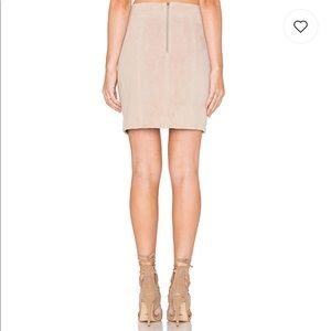 Bardot Skirts - Bardot 100% Suede Mini Skirt